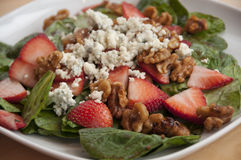 Strawberry and spinach salad Royalty Free Stock Photography