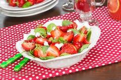 Strawberry Spinach Salad Stock Photo