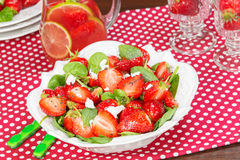 Strawberry Spinach Salad Stock Photos