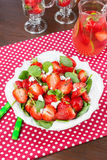 Strawberry Spinach Salad Stock Images
