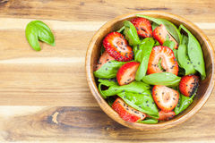 Strawberry Spinach Salad Royalty Free Stock Photos