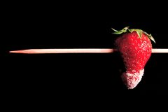 Strawberry spit Royalty Free Stock Image