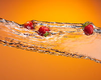 Strawberry splash Stock Image