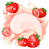 Strawberry splash Stock Photo