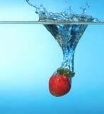 Strawberry splash Royalty Free Stock Photography