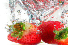 Strawberry splash Stock Photo