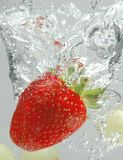 Strawberry Splash Stock Photos