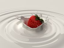 Strawberry splash vector illustration