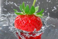 Strawberry splash Stock Photos