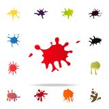 Strawberry splash icon. splash icons universal set for web and mobile. On white background royalty free illustration