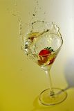 Strawberry splashing Stock Photo