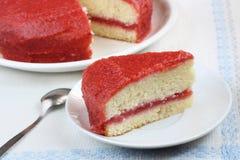 Strawberry sponge cake Royalty Free Stock Photography