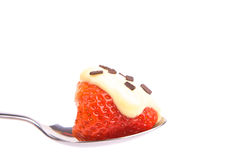 Strawberry on a spoon Royalty Free Stock Image