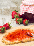 Strawberry Spread Stock Images