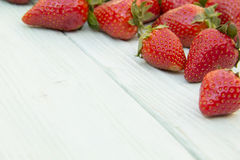 Strawberry spread on a wooden surface Stock Photography