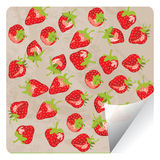 Strawberry sticker Stock Images