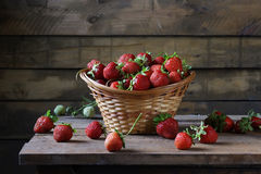 Strawberry. Still life with ripe strawberries Royalty Free Stock Images