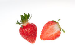 Strawberry. Strawberries on a white background - studio shot, stock photo royalty free stock photo