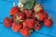 Strawberry. On the table bouquet Royalty Free Stock Image