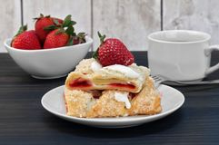 Strawberry Strudel with fresh strawberries. Stock Images