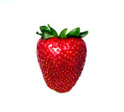 Strawberry. Studio shot of a strawberry isolated on white Royalty Free Stock Photos