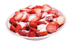 Strawberry with sugar Royalty Free Stock Image