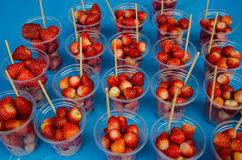 Strawberry with Sugar In a Cup Stock Photography