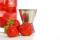 Strawberry summer drink Stock Photos