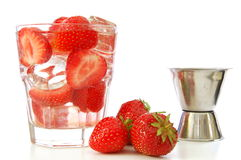 Strawberry summer drink Royalty Free Stock Images