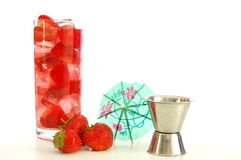 Strawberry summer drink Royalty Free Stock Photos