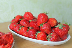 Strawberry. Summer sweets in winter time Stock Image