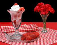 Strawberry Sundae Stock Images