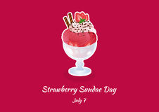 Strawberry Sundae Day vector Stock Image