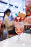 Strawberry sunday icecream Royalty Free Stock Images