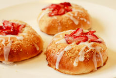 Strawberry Sweet Bread Royalty Free Stock Images