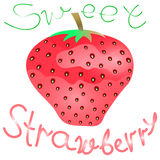 Strawberry sweet vector Stock Images
