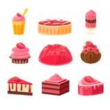Strawberry Sweets Set Royalty Free Stock Image