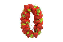 Strawberry symbol 0 Royalty Free Stock Photography