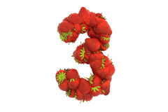 Strawberry symbol 3 Royalty Free Stock Image
