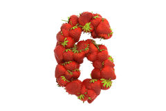 Strawberry symbol 6 Stock Image