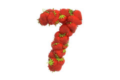 Strawberry symbol 7 Royalty Free Stock Images