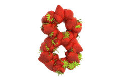 Strawberry symbol 8 Royalty Free Stock Photos