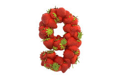 Strawberry symbol 9 Stock Photo