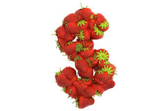 Strawberry symbol $ Stock Photo