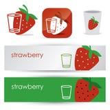 Strawberry symbols Stock Image