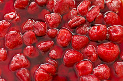 Strawberry in syrup. Stock Photography