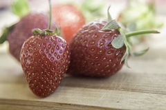 Strawberry  Table Royalty Free Stock Images