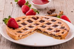 Strawberry tart. Royalty Free Stock Images