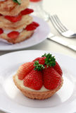 Strawberry Tart. Delicious Strawberry Tart on a plate Stock Photo