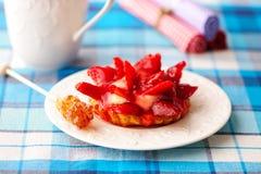 Strawberry tart Stock Photo